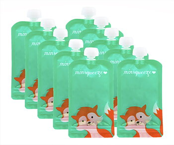 10-pack Minsqueeze Fox klämpåse 220 ml