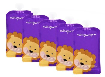 5-pack Minsqueeze Lion klämpåse 220 ml