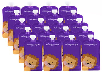 20-pack Minsqueeze Lion klämpåse 220 ml