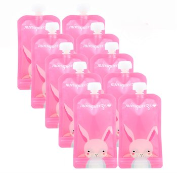 10-pack Minsqueeze Rabbit klämpåse 220 ml