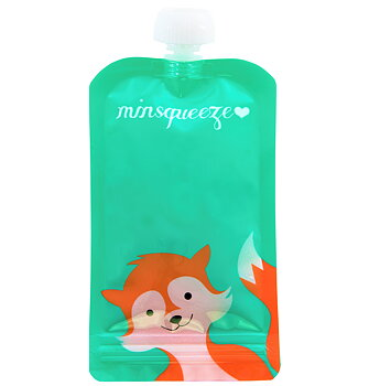 1-pack Minsqueeze Fox klämpåse 220 ml