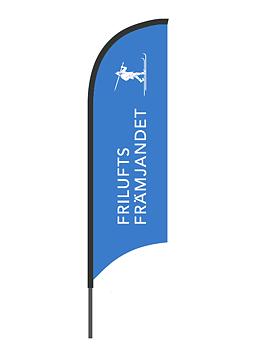 Beachflagga Friluftsfrämjandet - Blå