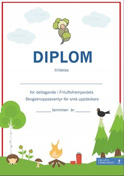 Diplom Skogsknopp Röd - 20-pack