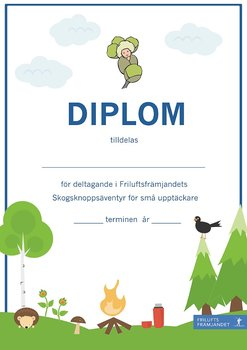 Diplom Skogsknopp Blå - 20-pack