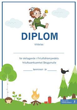 Diplom Skogsmulle Blå - 20-pack