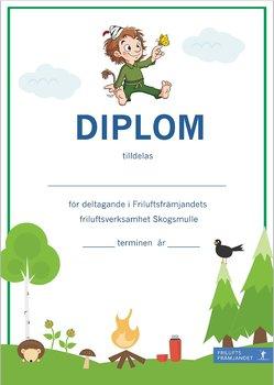 Diplom Skogsmulle Grön - 20-pack