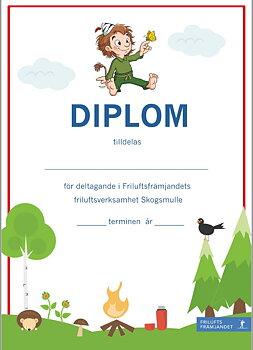 Diplom Skogsmulle Röd - 20-pack