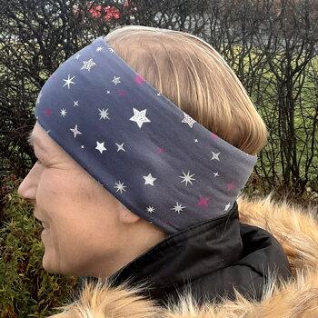Pannband Stjärnor på grå botten