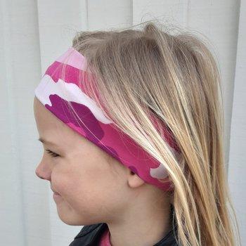 Hårband Kamouflage  Rosa