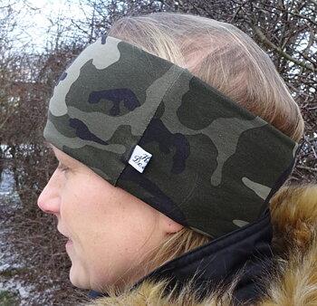 Pannband Kamouflage grönt