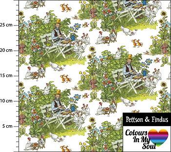 Jersey - Pettson&Findus Fikastunden Vit