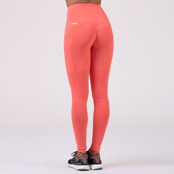 High Waist Smart Tights, peach, S
