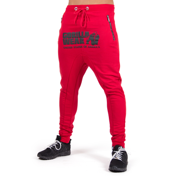 Alabama Drop Crotch Joggers, red
