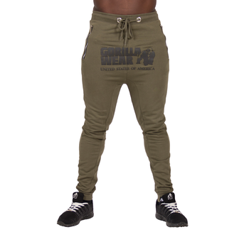 Alabama Drop Crotch Joggers, army green