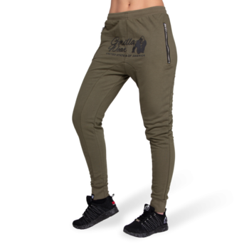 Celina Drop Crotch Joggers, army green