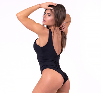 Sexy Monokini Swimsuit, black, S
