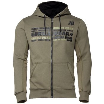 Bowie Mesh Zipped Hoodie, army green