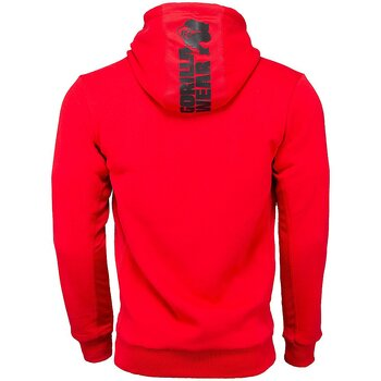 Bowie Mesh Zipped Hoodie, red