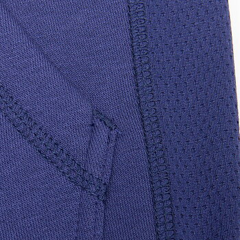 Bowie Mesh Zipped Hoodie, navy blue