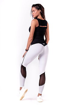 V-Butt Tights, white, S