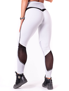 V-Butt Tights, white, S