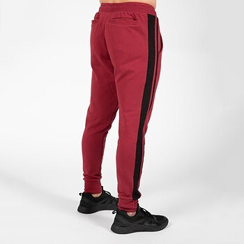 Banks Pants, burgundy red/black