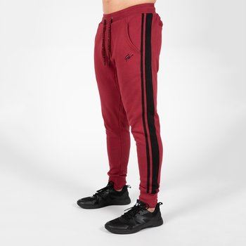 Banks Pants, burgundy red/black