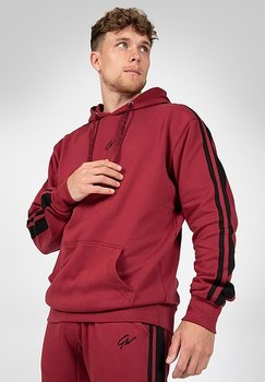 Banks Oversized Hoodie, burgundy red/black
