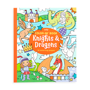 MÅLARBOK KNIGHTS AND DRAGONS
