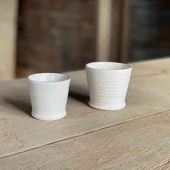 Espressokopp dubbel, vit