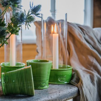 Carreaux ljuslykta, större modell, grön
