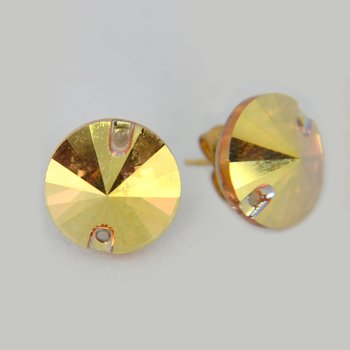 RIVOLI ÖRHÄNGEN - Metallic Sunshine 12 mm