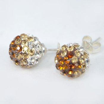 DISCOBOLLÖRHÄNGEN - Koppar/Guld/Crystal