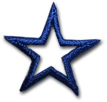 """Star """"open"""" - mörkblå"""