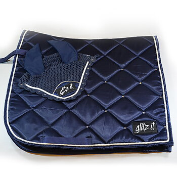SET Dressyrschabrak & huva - navy