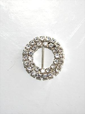 SPÄNNE - crystal/silver, 2 cm