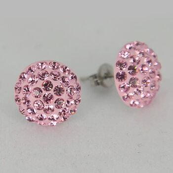 Swarovski PAVEBALLS - örhängen / Light Pink