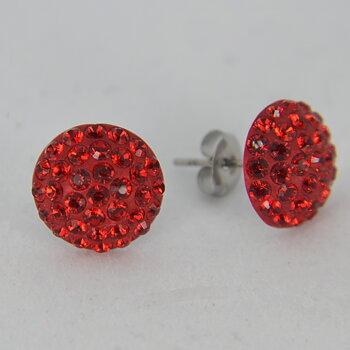 Swarovski PAVEBALLS - örhängen / Röda