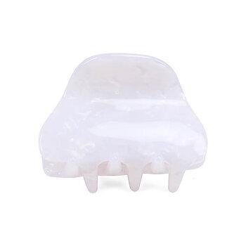 Hårklämma Mini Claw, vit marmor