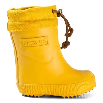 Bisgaard - Warm Rubber Boot Yellow, Size 20-36