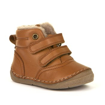 Froddo - Jade Cognac Barefoot winter shoes, Size 20-30