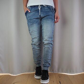 Jeans med resår och volang DENIM (tre storlekar) - d´NADA