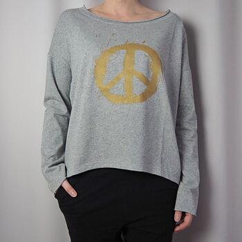 Topp TABITA PEACE One Size GRÅ  - Santa Ni