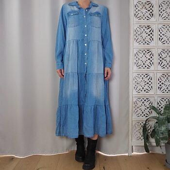Klänning JUAN One Size SLITEN DENIM - Stajl Agenturer