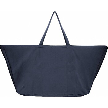 Stor tygväska i ekologisk bomullscanvas Big Long Bag, Dark blue - The Organic Company