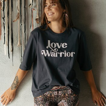"T-shirt ""Love Warrior"" Ink grey"