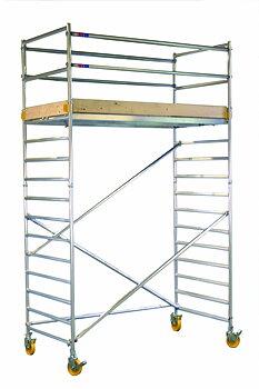 Klusterin rullaavat telineet 130 x 250 x 550 cm