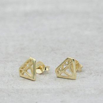 Örhänge diamant guld