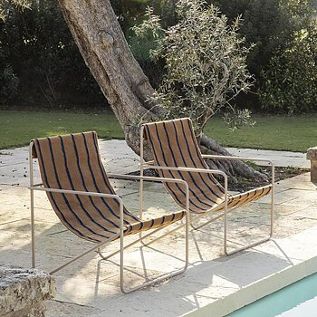 ferm LIVING - Desert Lounge Chair Black/Stripes