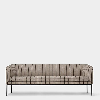 Ferm Living Turn soffa 3-sits - Pasadena Sand Svart med svart ram